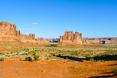 Three Gossips Sheep Rock and  Tower of Babel  in the Arch National Park Utah