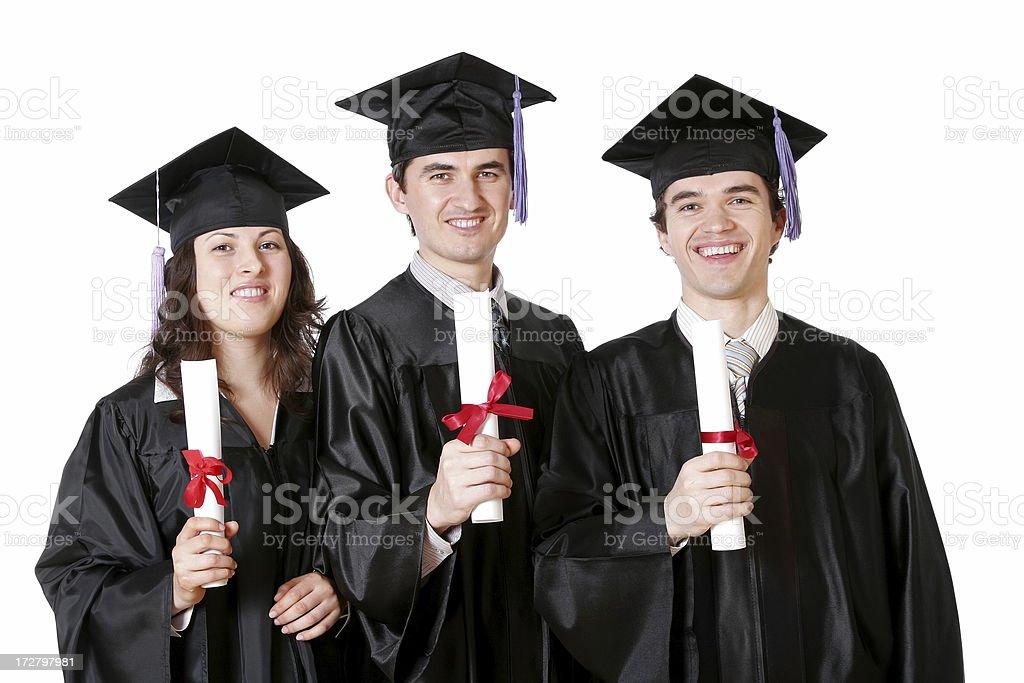 Three Graduates royalty-free stock photo