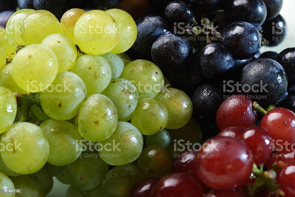 Three grape varieties royalty-free stock photo