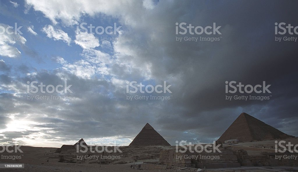 Three Great Pyramids royalty-free stock photo