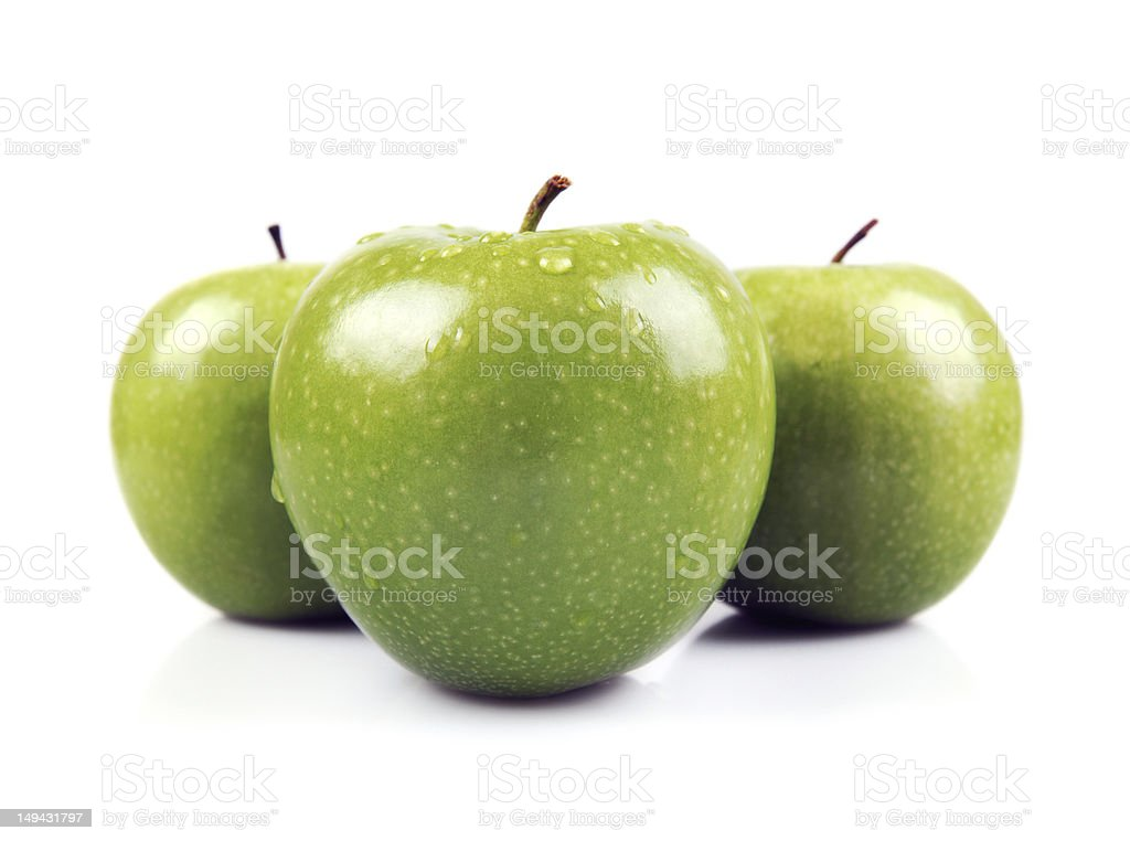 Three Green Apples - XXLarge - Royalty-free Acid Stock Photo