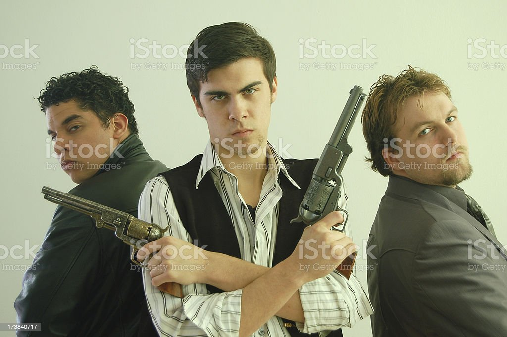 Three Gunmen royalty-free stock photo