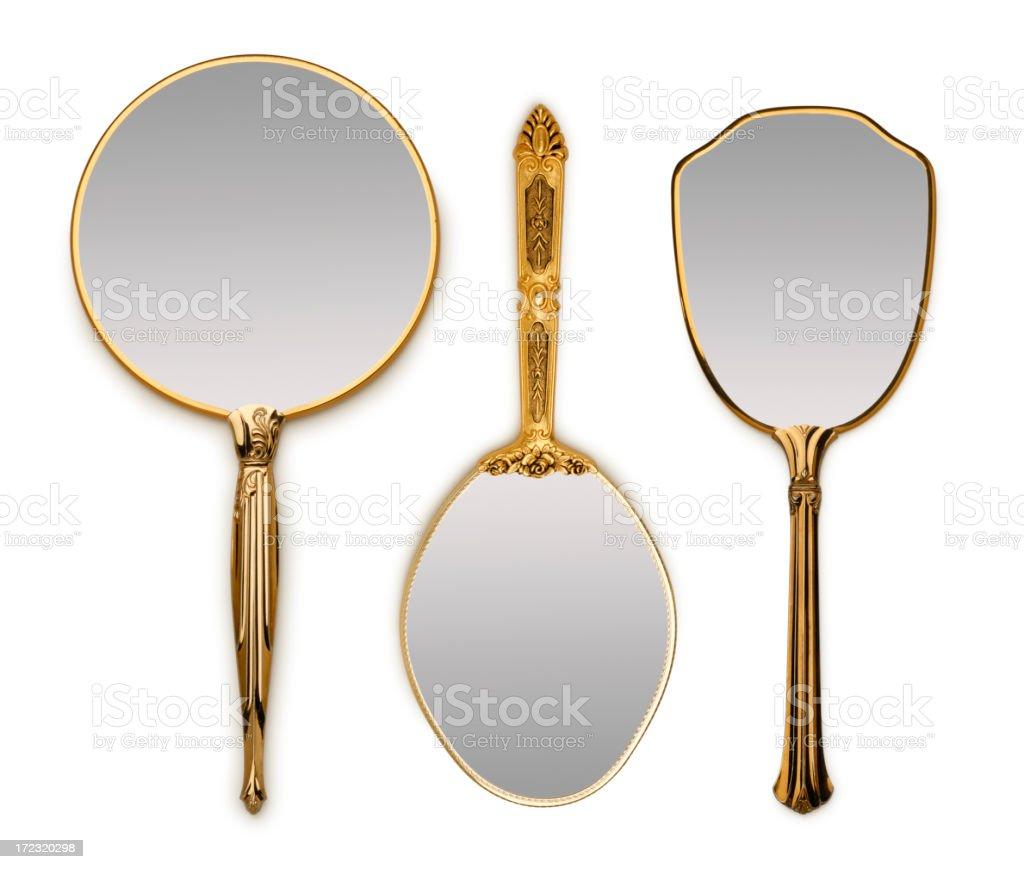 Three Hand Mirrors stock photo