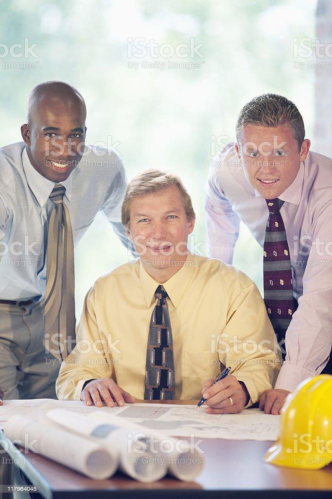 Three  Happy Businessmen royalty-free stock photo