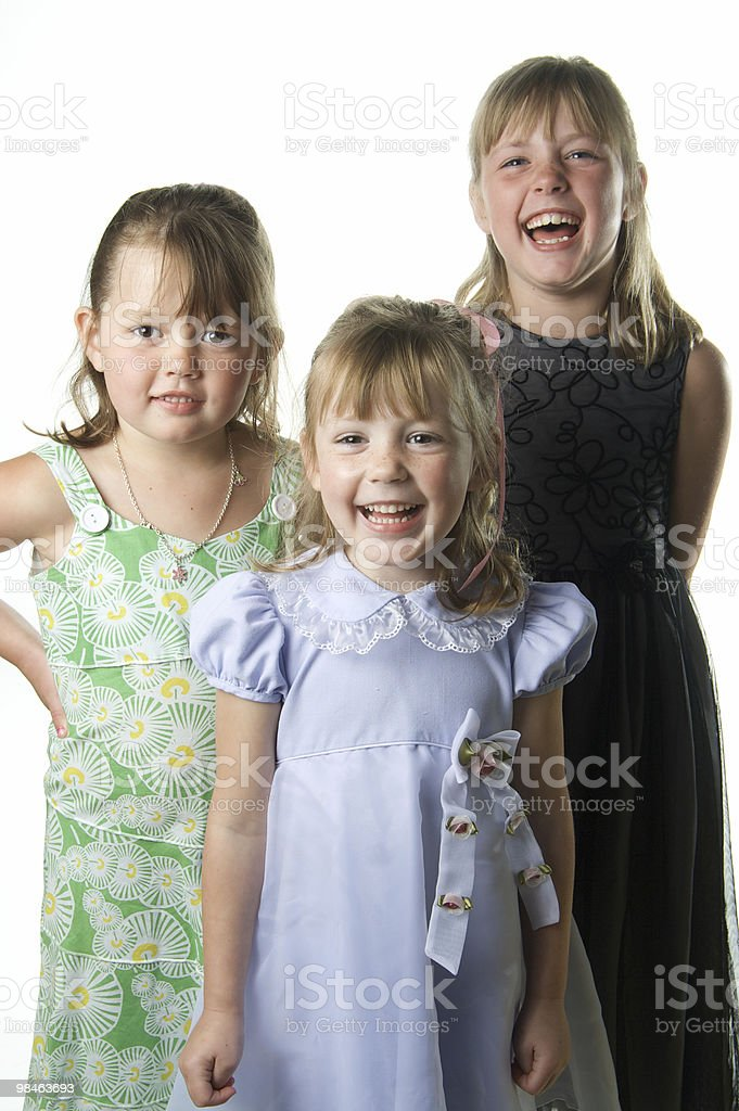 Three Happy Sisters royalty-free stock photo