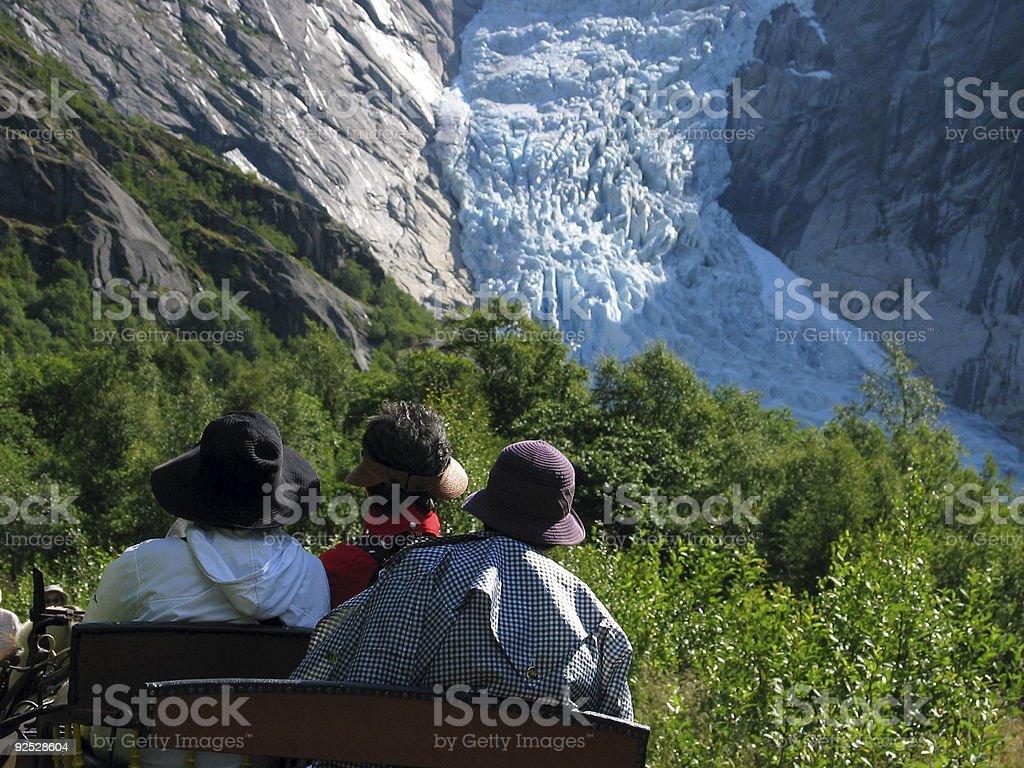 Three hats and glacier royalty-free stock photo