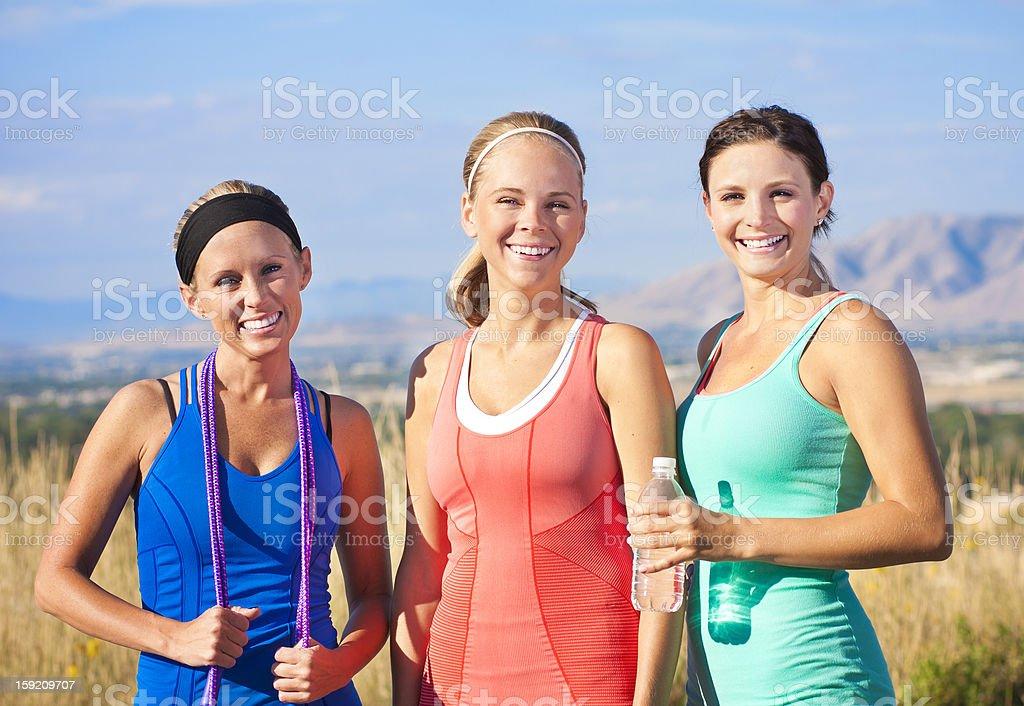 Three Healthy Fitness Women royalty-free stock photo