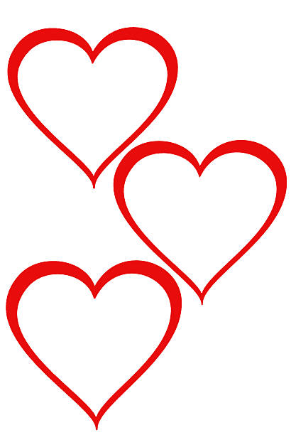 Three hearts stock photo