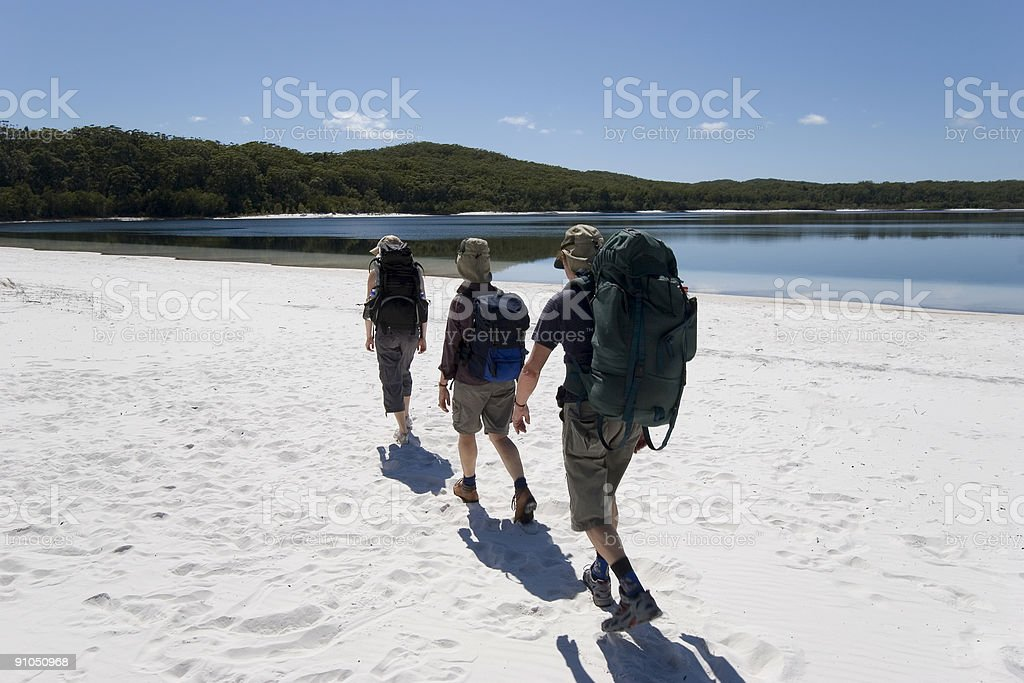 three hikers in australia 2 royalty-free stock photo