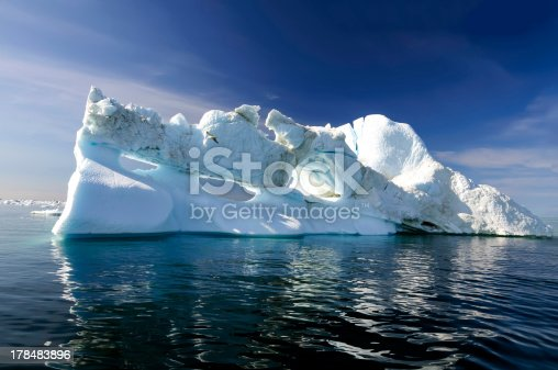 istock Three holes iceberg floating in Disko Bay 178483896