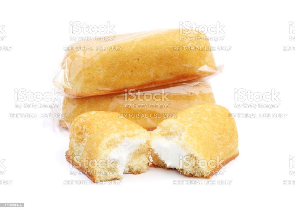 Three Hostess Twinkies royalty-free stock photo
