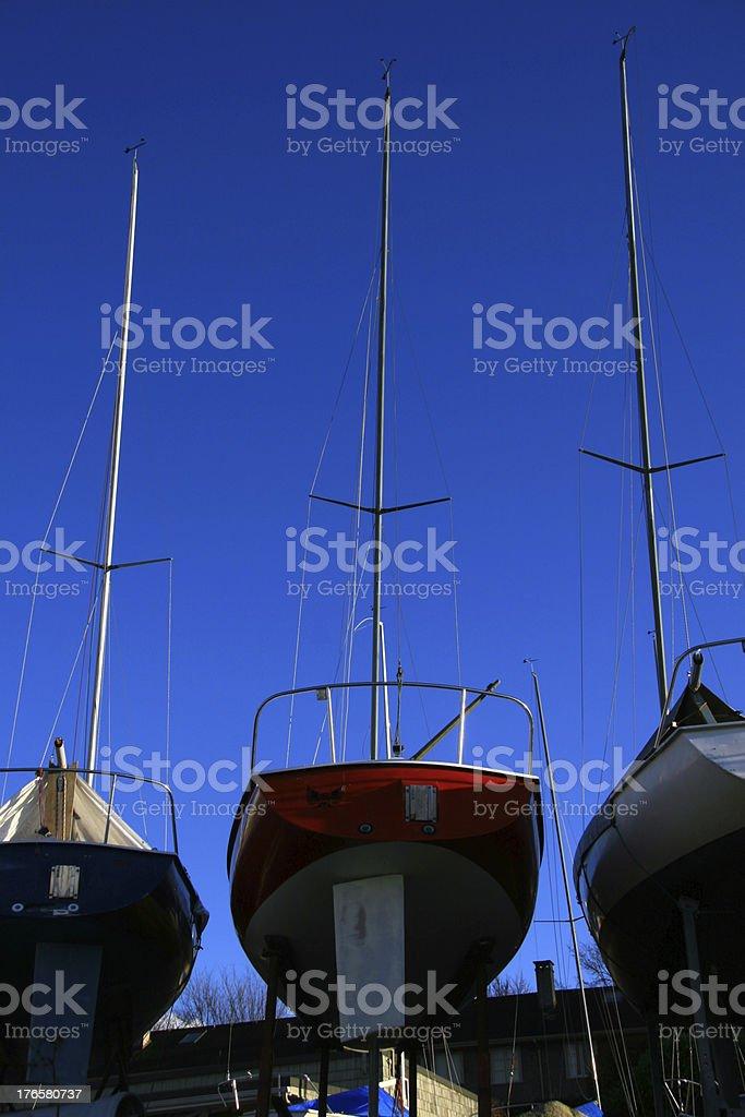 Three Hulls stock photo