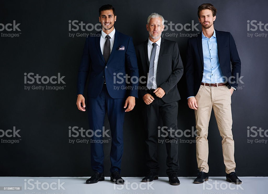 Three is the magic number for success! stock photo