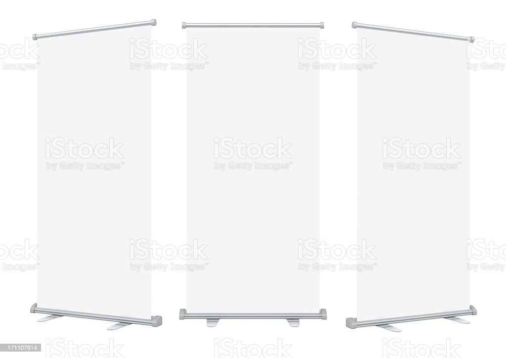 Enrole exibição de banner em branco - foto de acervo