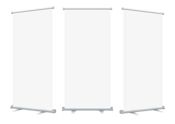 Leere roll-up banner-display – Foto