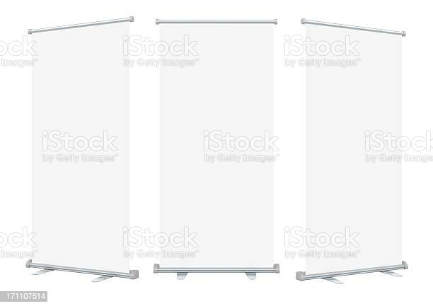 blank roll up banner display.