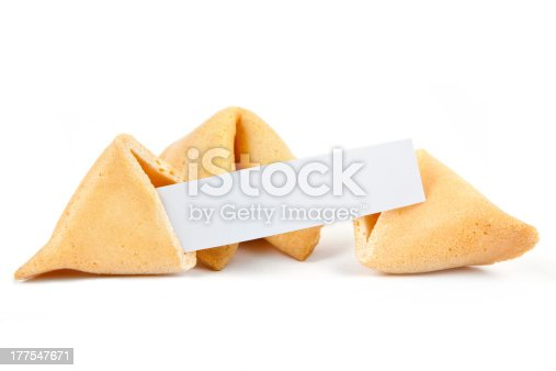 Chinese Fortune Cookie with blank paper