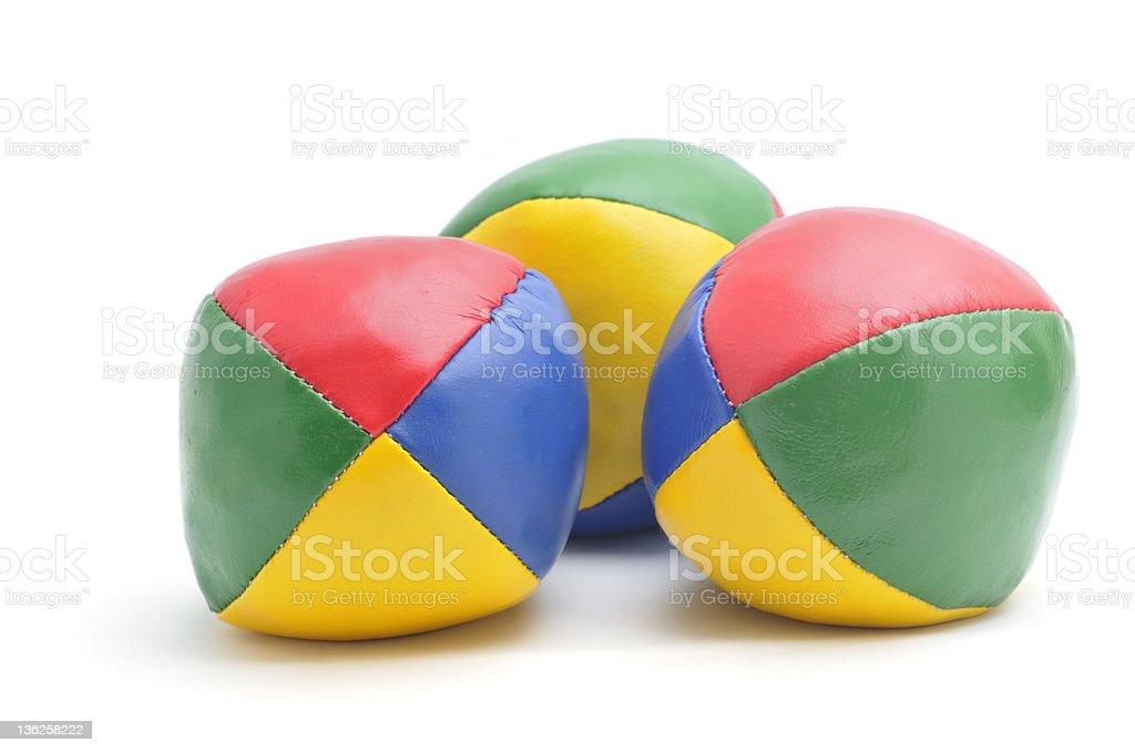 Three Juggling Balls stock photo