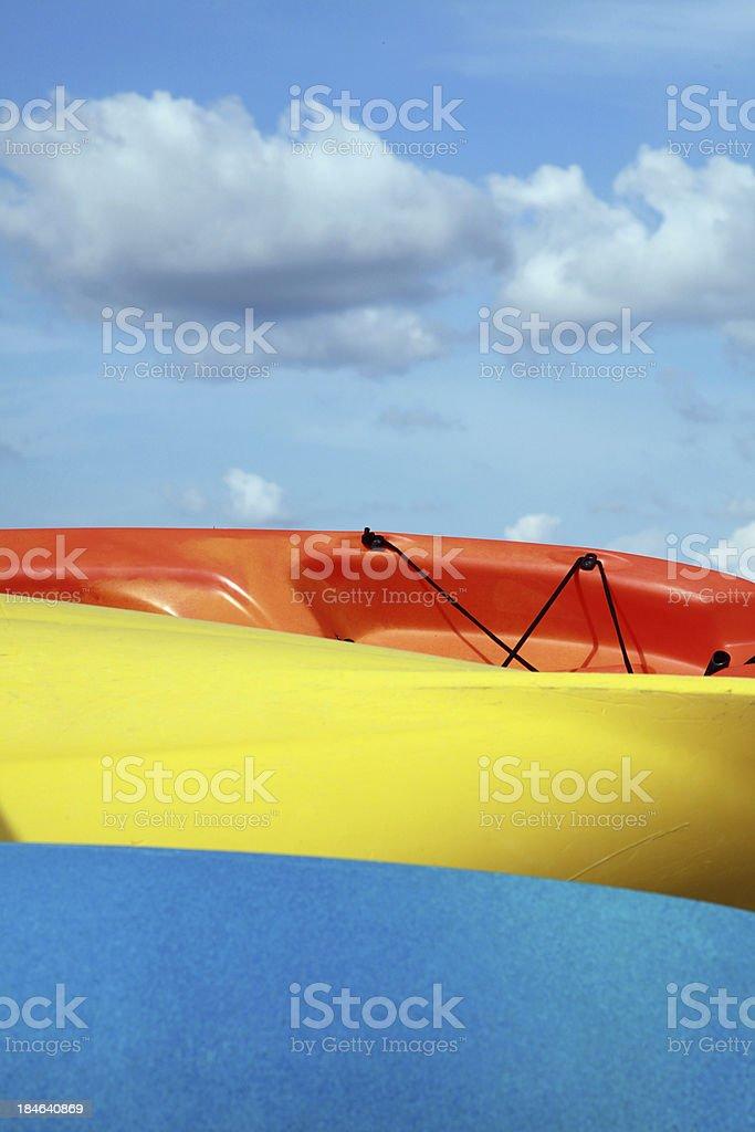 Three Kayaks stock photo