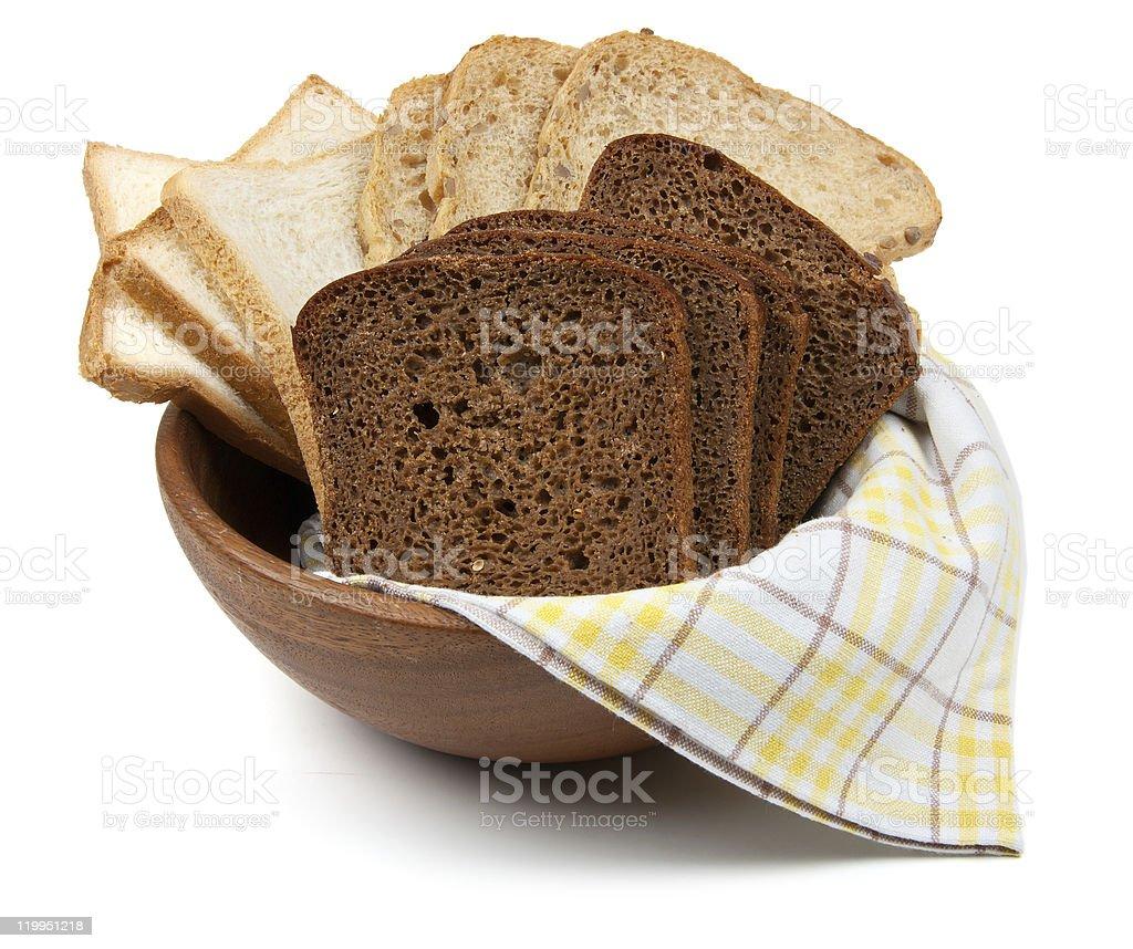 Three kind of bread royalty-free stock photo