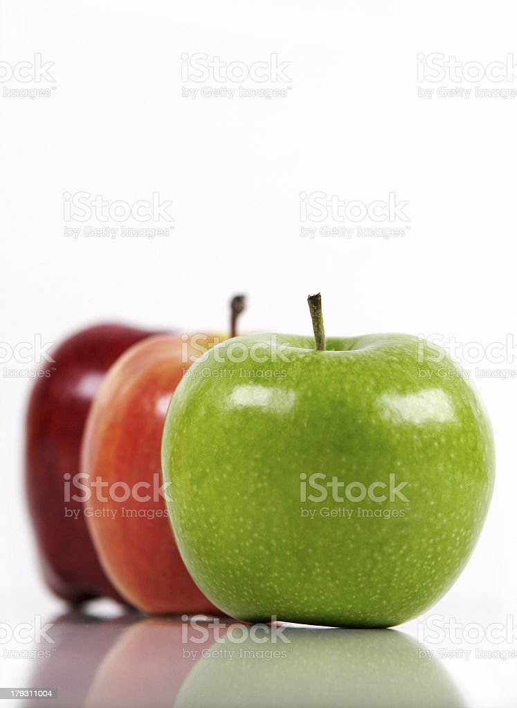 Three kinds of apple royalty-free stock photo