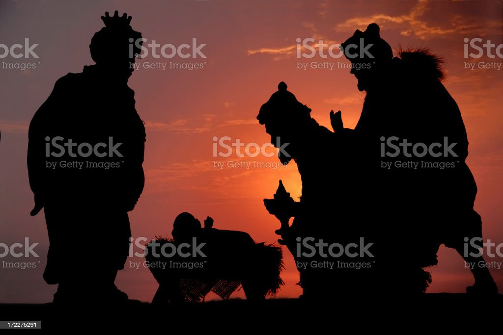 Three Kings (Photographed Silhouette) royalty-free stock photo