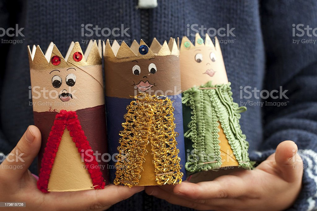 Three kings (3 wise men) stock photo