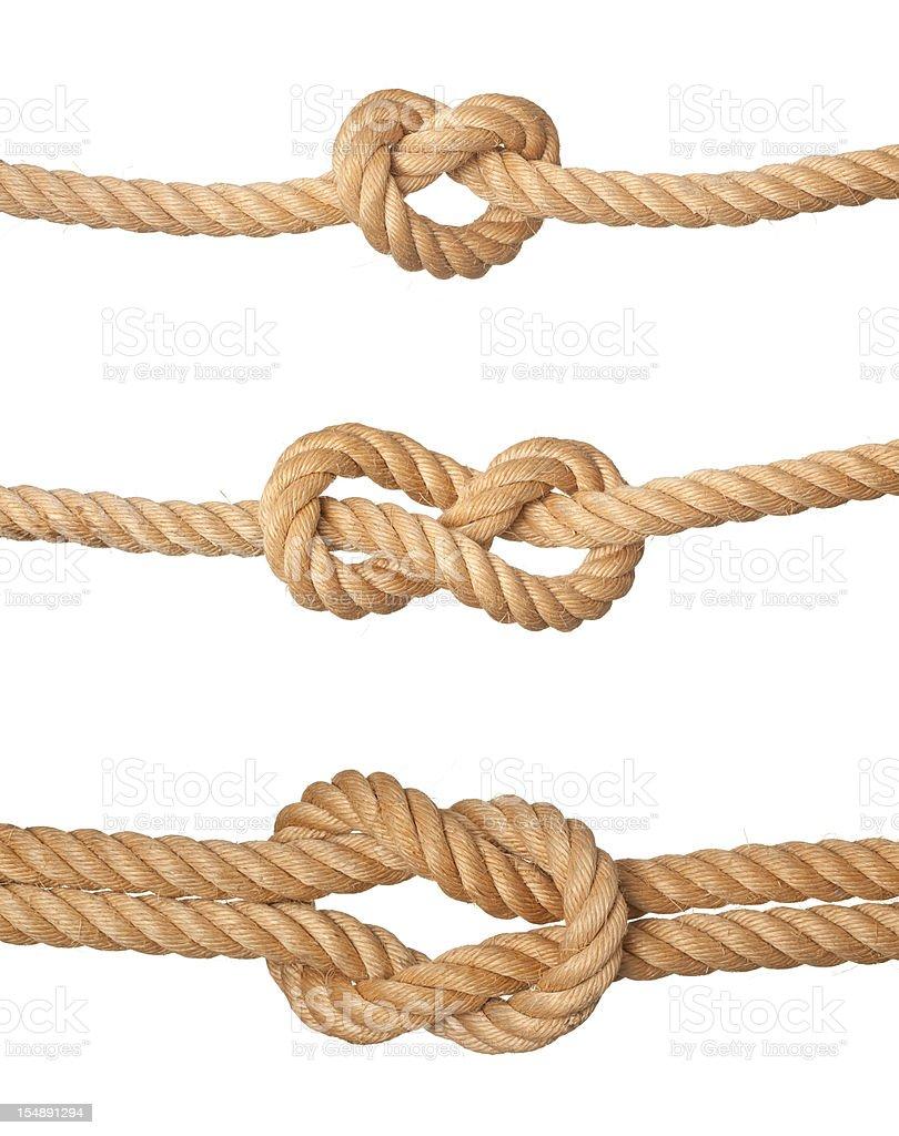 Three knots. stock photo