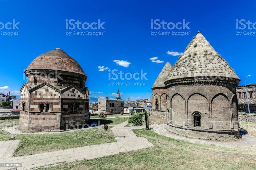 Three Kumbets, Erzurum, Turkije - Royalty-free Antiek - Toestand Stockfoto