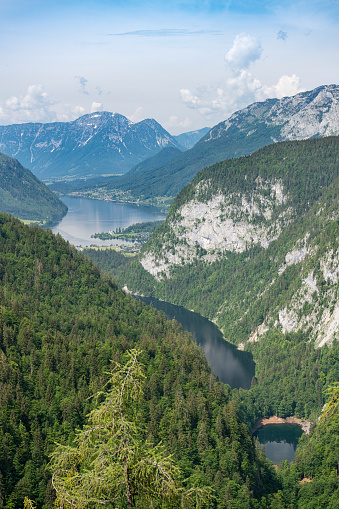 Three Lake View Kammersee Toplitzsee Grundlsee Ausseerland Salzkammergut Austria Stock Photo - Download Image Now