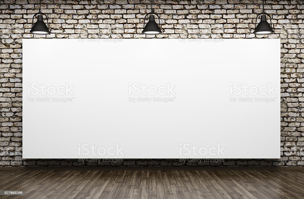 royalty free whiteboard lighting equipment brick wall