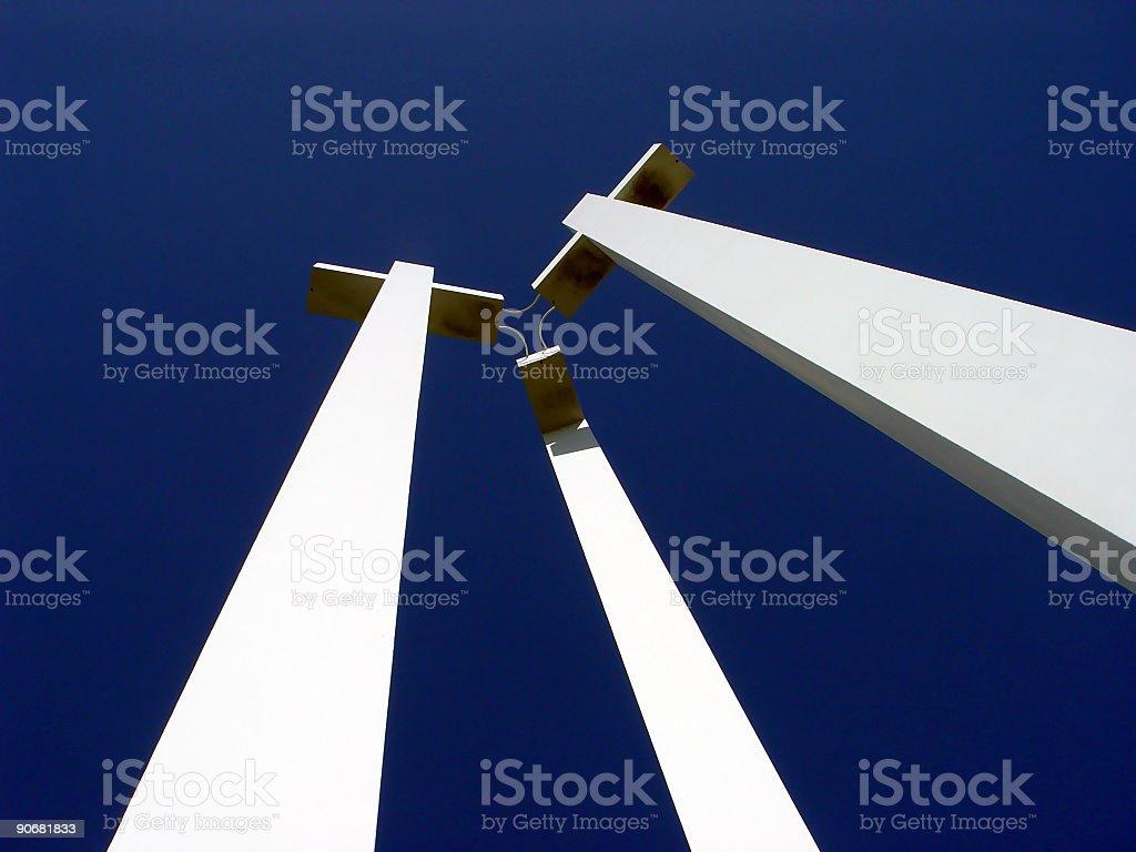Three Large Crosses stock photo
