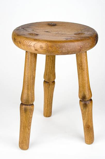 Three Legged Milking Stool  stool stock pictures, royalty-free photos & images