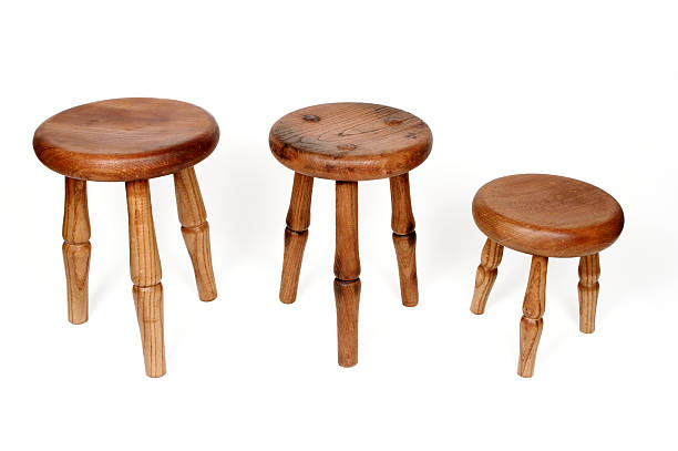 Three Legged Milking Stools  stool stock pictures, royalty-free photos & images