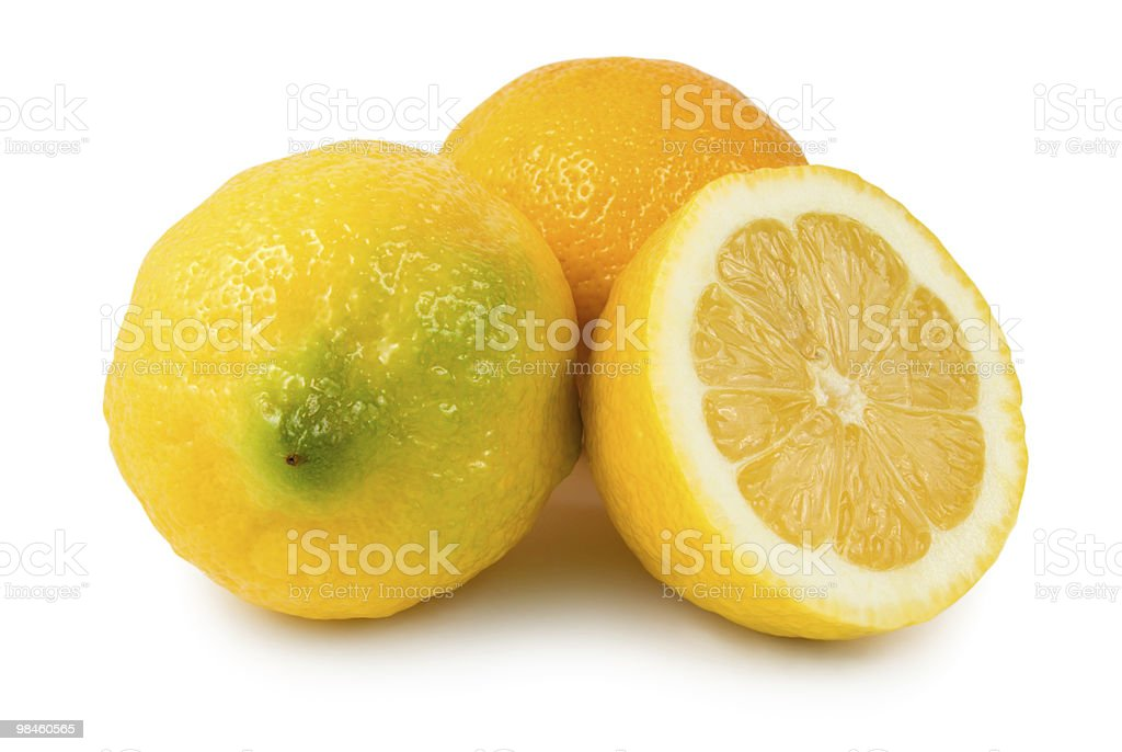 Three lemons royalty-free stock photo