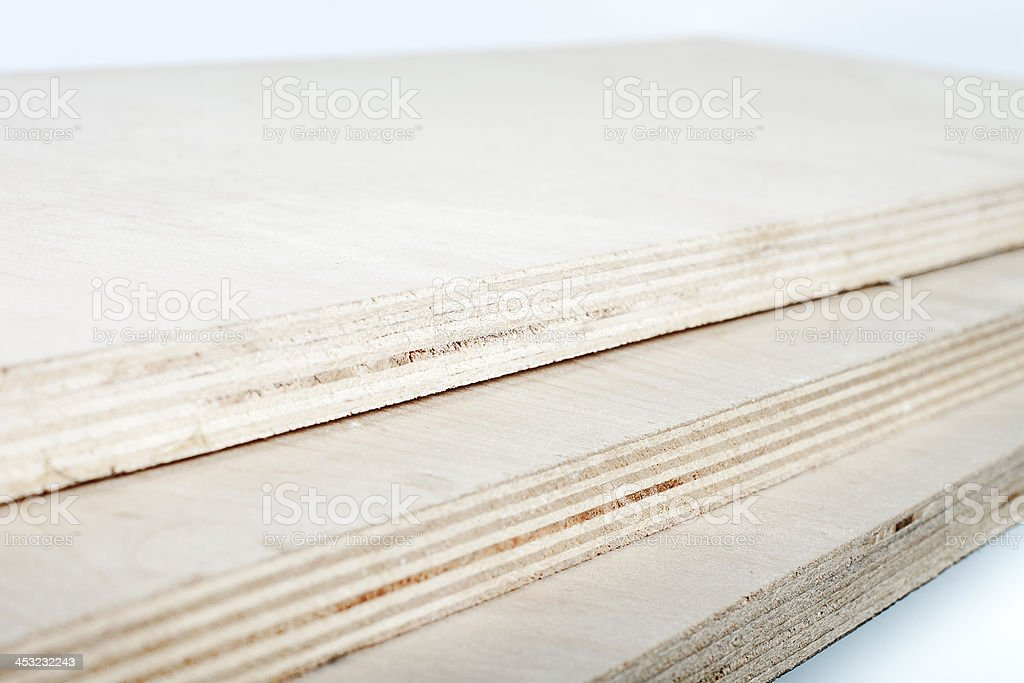 three light plywood boards stacked royalty-free stock photo