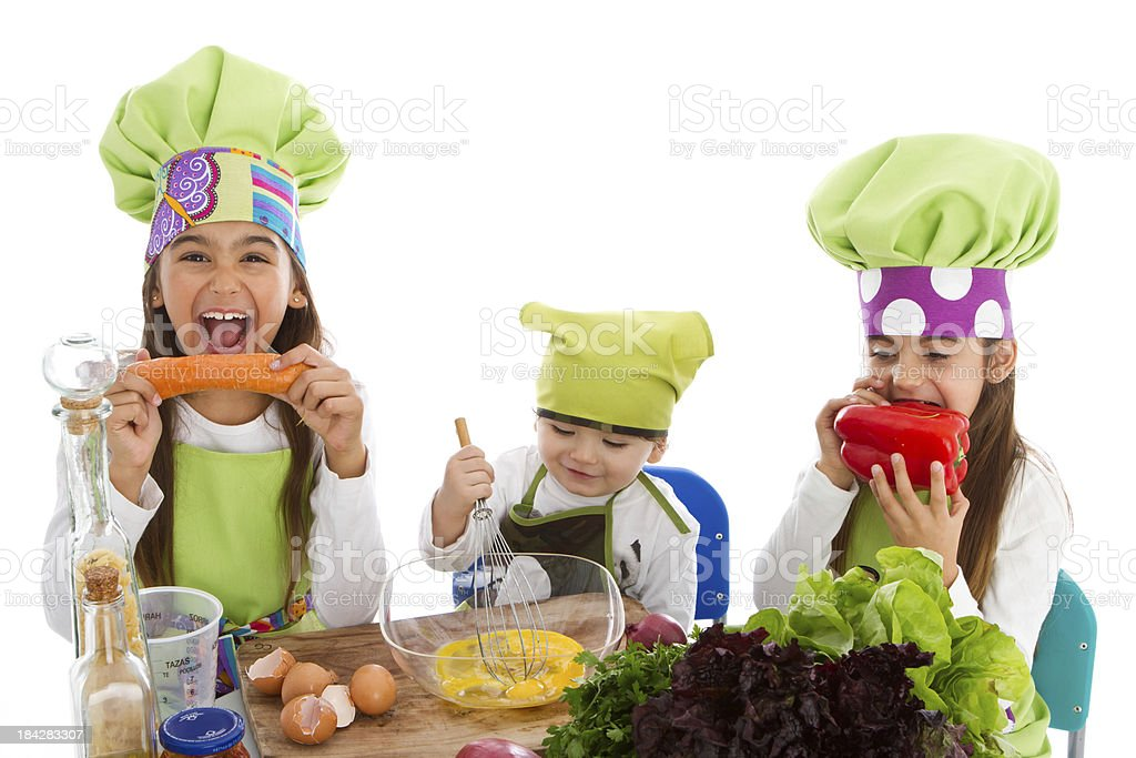 Three little cookers royalty-free stock photo