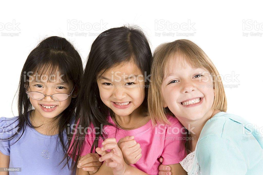 Three little girls royalty-free stock photo