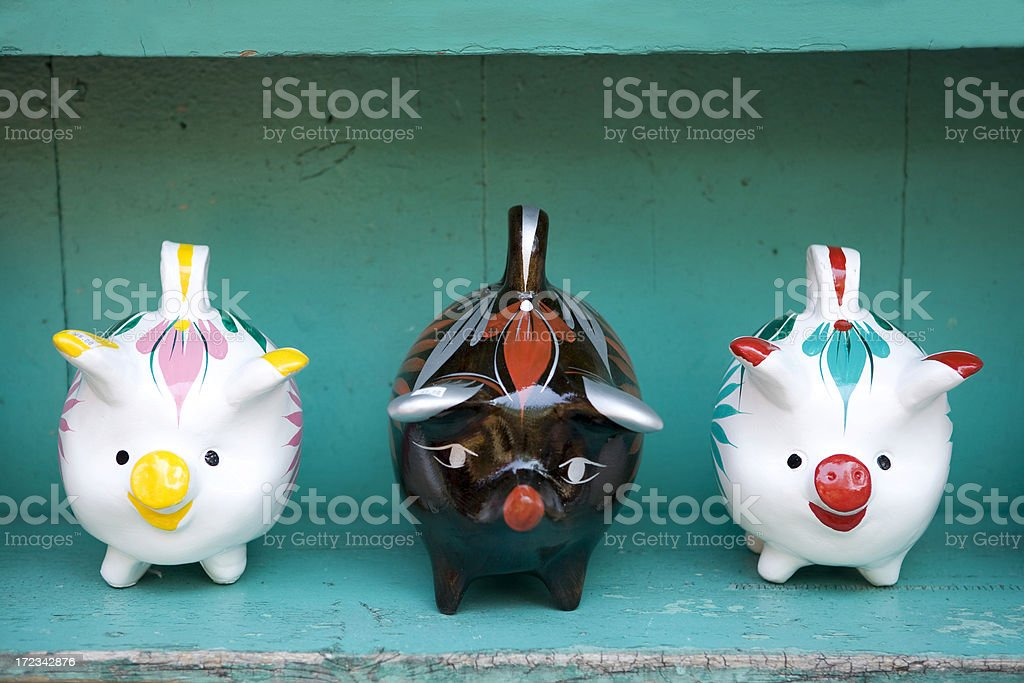 Three Little Pigs royalty-free stock photo