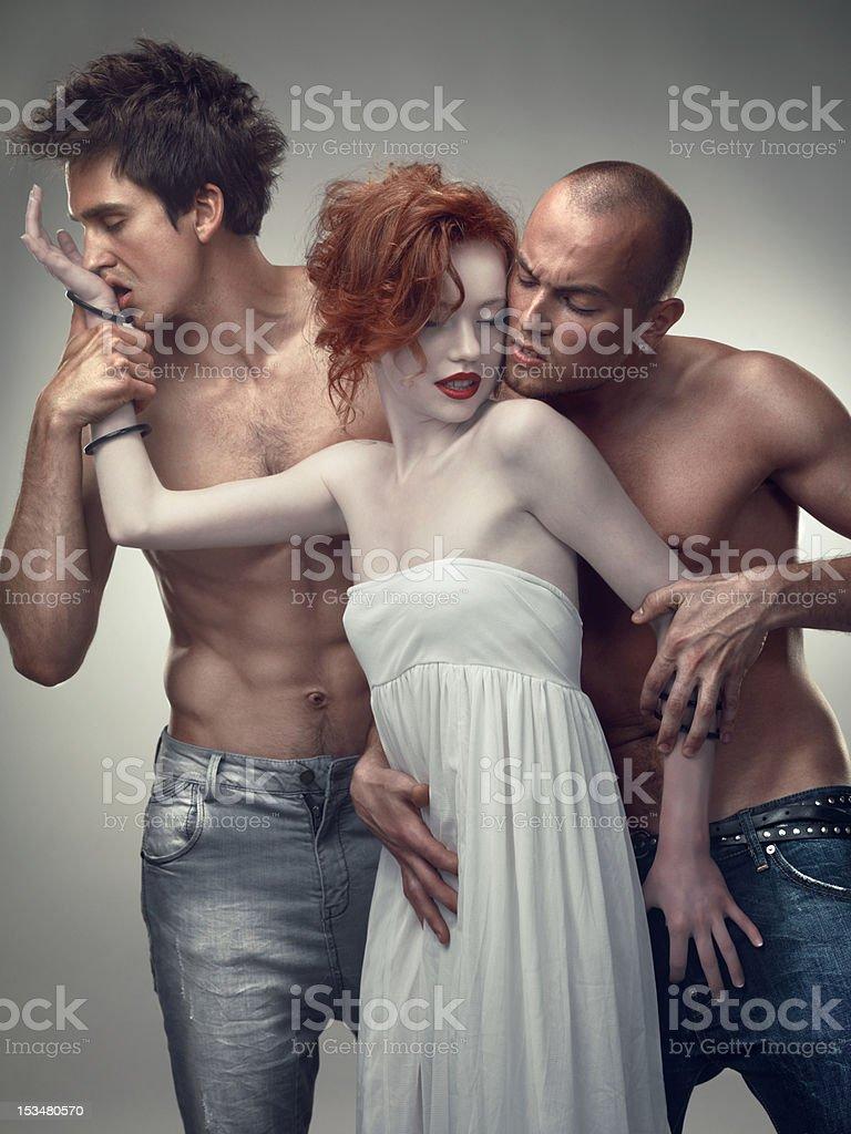 Three Lovers stock photo