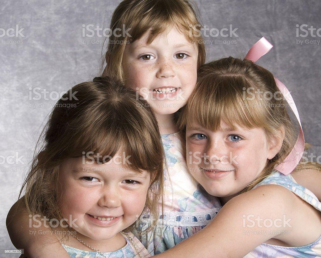Three Loving Sisters royalty-free stock photo