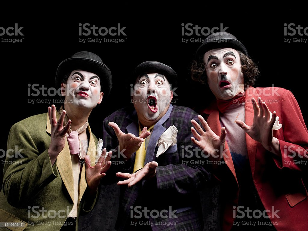 Three male actor acting royalty-free stock photo