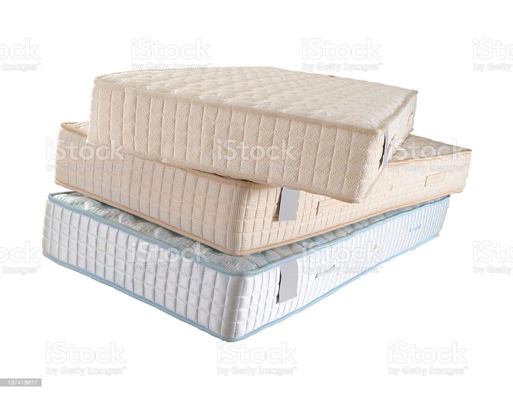 three mattresses royalty-free stock photo