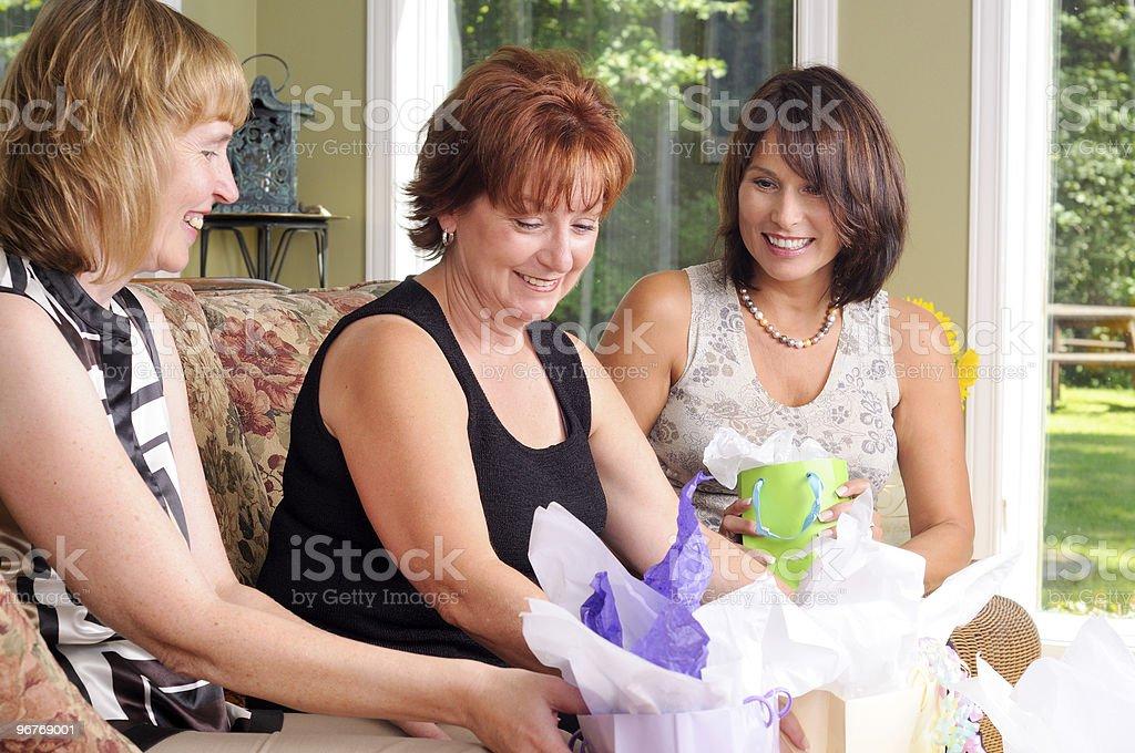 Three Mature Women stock photo