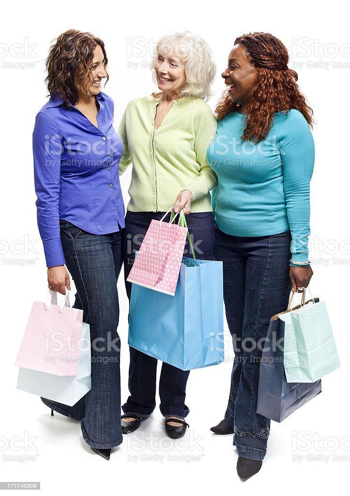 Three Mature Women Shopping stock photo