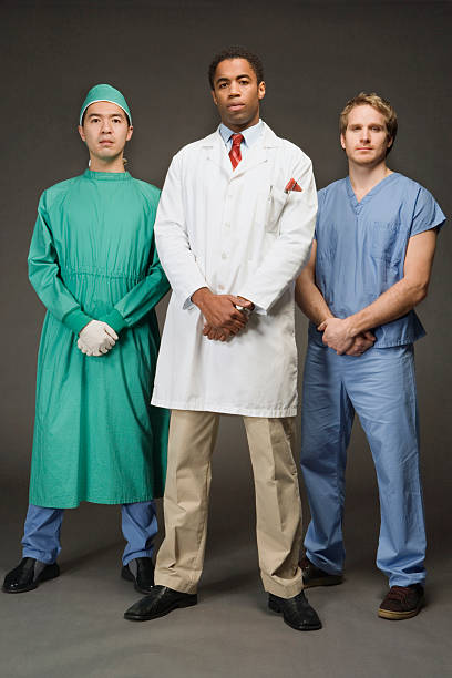 three medical professionals, portrait - hospital studio bildbanksfoton och bilder