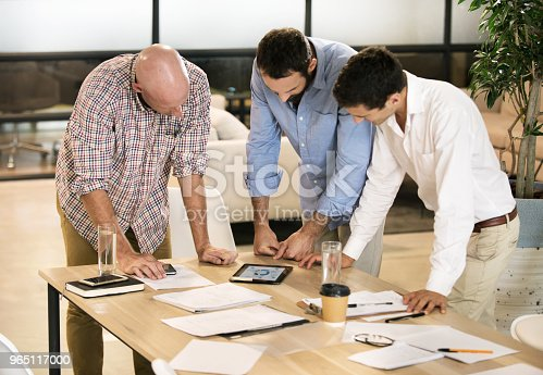 Three Men Meeting To Discuss Business Stock Photo & More Pictures of Adult