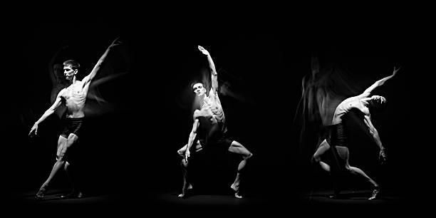 ballett-tänzerin. - männliche körperkunst stock-fotos und bilder