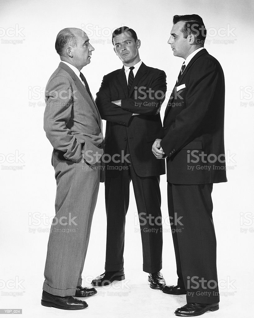 Three men talking 免版稅 stock photo