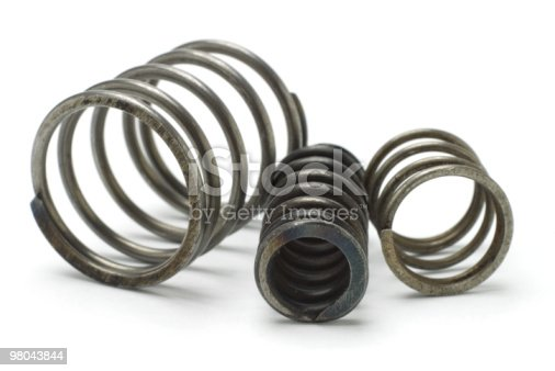 Three Metal Springs Stock Photo & More Pictures of Circle